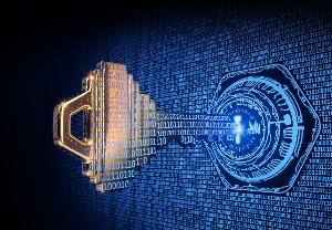 Key Inserting Into Digital Lock